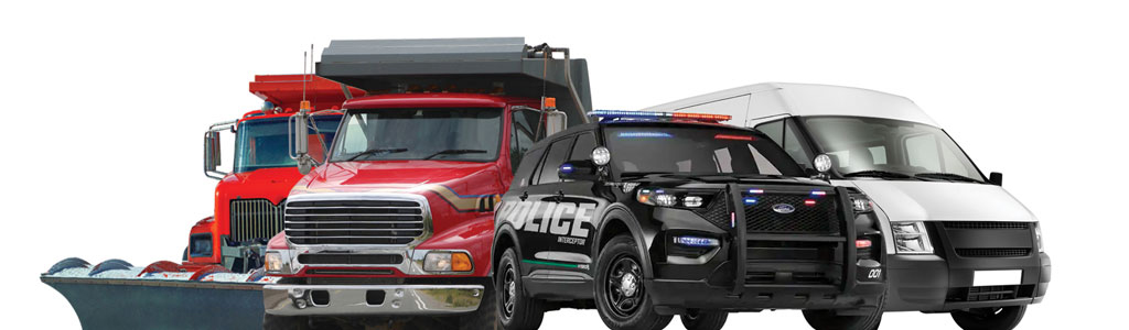 MHQ up-fitted police car, truck, and van